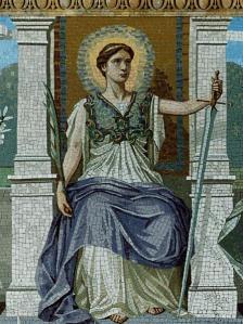A_mosaic_-LAW-_by_Frederick_Dielman,_1847-1935